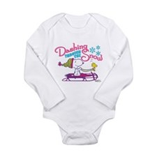 Snoopy and Woodstock D Long Sleeve Infant Bodysuit