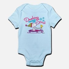 Snoopy and Woodstock Dashing Throu Infant Bodysuit