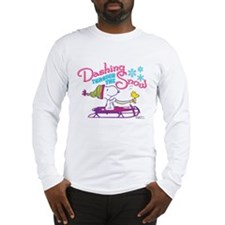 Snoopy and Woodstock Dashing T Long Sleeve T-Shirt