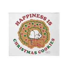 Snoopy:Hapiness is Christmas Cookies Throw Blanket
