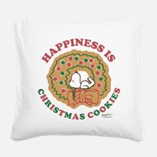 Snoopy:Hapiness is Christmas Square Canvas Pillow