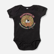 Snoopy:Hapiness is Christmas Cookies Baby Bodysuit
