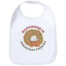 Snoopy:Hapiness is Christmas Cookies Bib