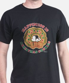 Snoopy:Hapiness is Christmas Cookies T-Shirt