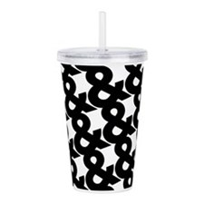 Ampersand Pattern Black and White Acrylic Double-w