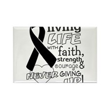 Skin Cancer Courage Rectangle Magnet