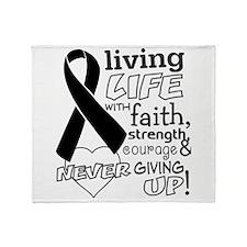 Skin Cancer Courage Throw Blanket