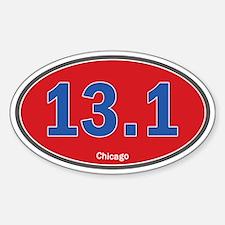 Chicago Half-Marathon 26.2 Euro Oval Car Sticker S