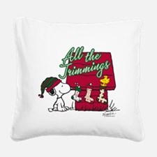 Snoopy: All the Trimmings Square Canvas Pillow