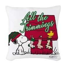 Snoopy: All the Trimmings Woven Throw Pillow