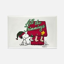Snoopy: All the Trimmings Rectangle Magnet