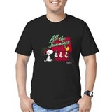 Snoopy holiday Fitted T-shirts (Dark)