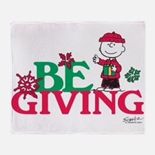 Charlie Brown: Be Giving Throw Blanket