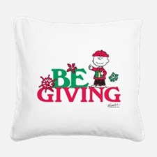 Charlie Brown: Be Giving Square Canvas Pillow