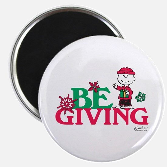 Charlie Brown: Be Giving Magnet