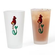 El Dia de Los Muertos Mermaid Drinking Glass