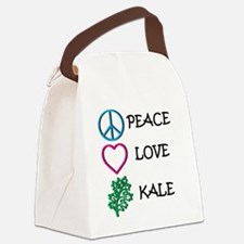 Peace Love Kale Canvas Lunch Bag
