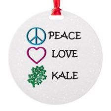 Peace Love Kale Ornament