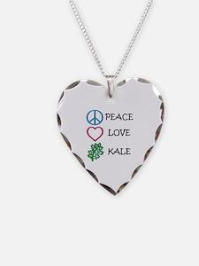 Peace Love Kale Necklace