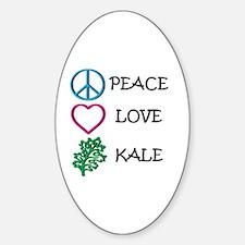 Peace Love Kale Decal