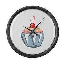 Cupcake Dessert Food Large Wall Clock
