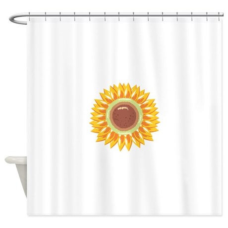 Sunflower Flower Floral Shower Curtain By CONCORD23