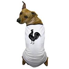 Black Rooster Dog T-Shirt