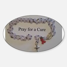 Pink Rosary with Pink Ribbon Charm Decal
