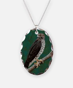 Cooper's Hawk: Necklace Oval Charm