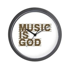 Music Is God Wall Clock