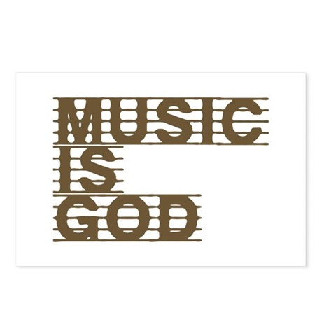 Music Is God Postcards (Package of 8)
