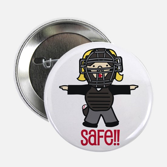 "Baseball Safe 2.25"" Button"