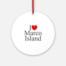 """I Love Marco Island"" Ornament (Round)"