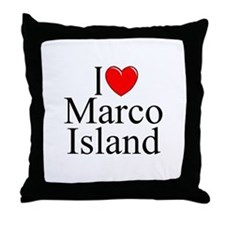 """I Love Marco Island"" Throw Pillow"