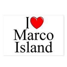 """I Love Marco Island"" Postcards (Package of 8)"