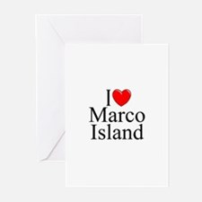 """I Love Marco Island"" Greeting Cards (Pk of 10"