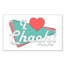 I Heart Chachi Rectangle Decal