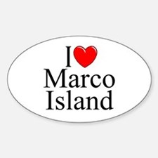 """I Love Marco Island"" Oval Decal"