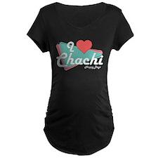 I Heart Chachi Dark Maternity T-Shirt
