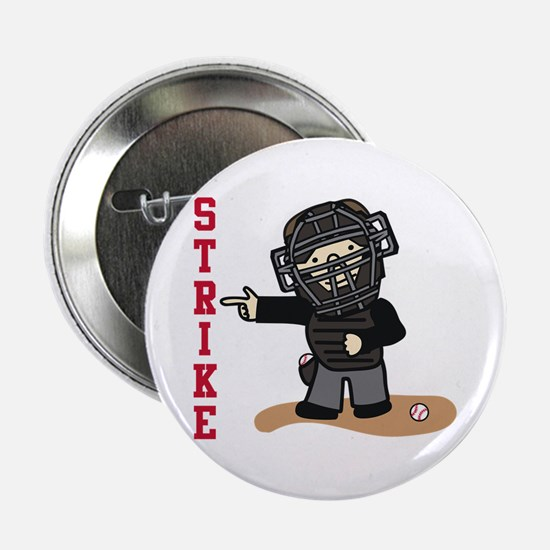 "Baseball  Strike 2.25"" Button"