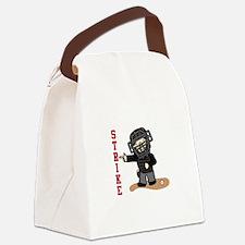Baseball Strike Canvas Lunch Bag