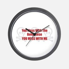 Mess With Bolognese Wall Clock