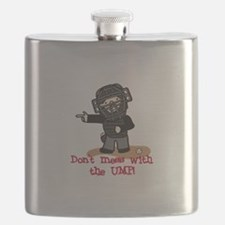 Mess With The Ump Flask