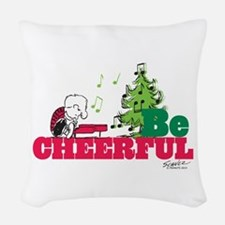 The Peanuts: Be Cheerful Woven Throw Pillow