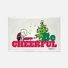 The Peanuts: Be Cheerful Rectangle Magnet