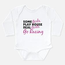Funny Racing Long Sleeve Infant Bodysuit