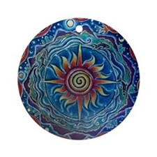 Summer Four Elements Mandala Round Ornament