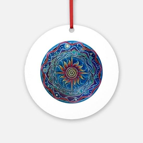 Summer Four Elements Mandala Round Ornament