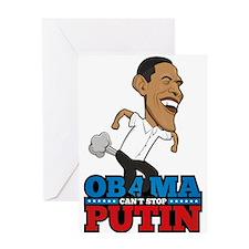 Obama Can't Stop Putin Pooting Farti Greeting Card