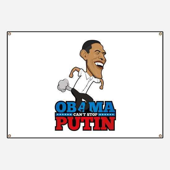 Obama Can't Stop Putin Pooting Farting Banner